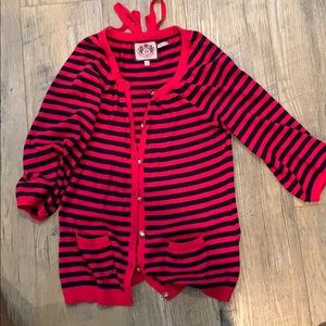 Juicy couture cashmere blend nautical sweater